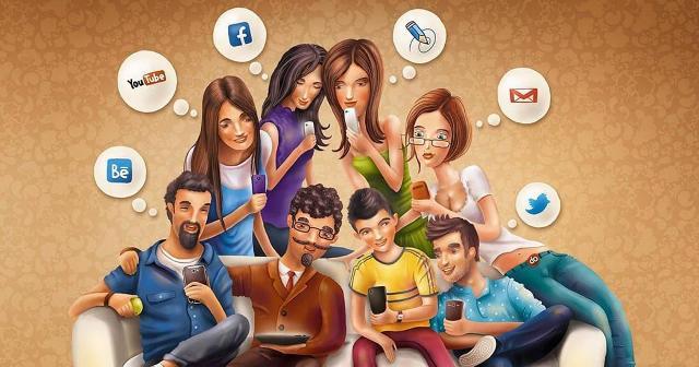 люди в социальных сетях