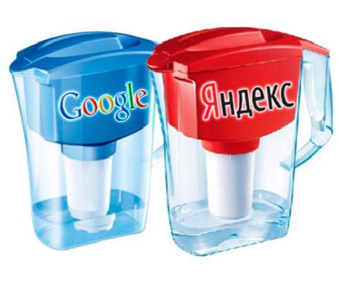 фильтры googl и Яндекс